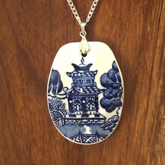 Churchill Blue Willow on Sterling Silver