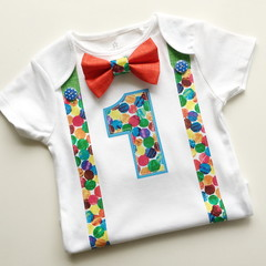The Hungry Caterpillar Theme Baby Boys 1st Birthday Bodysuit