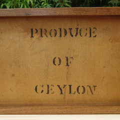 Classic Produce of Ceylon Recycled Tea Chest Panel Tray. A unique gift!
