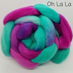 Hand Painted Wool Roving- OH LA LA