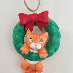 Ginger Cat Christmas Ornament