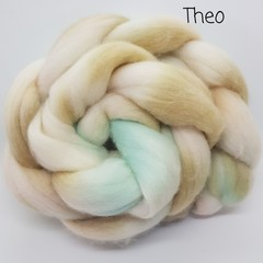 Hand Painted Wool Roving- THEO