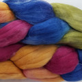 Hand Painted Wool Roving- SENSATION