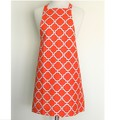 Orange Womens Handmade Kitchen Apron