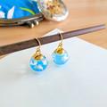 Blue Sky x White Clouds Drop Earrings - Handmade Kawaii Heaven