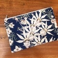 Pouch Flat - Flannel Flowers on Midnight