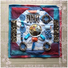 Dog Theme Dementia Alzheimers Fidget Quilt Lap Sensory Blanket Mat 60cm x 60cm