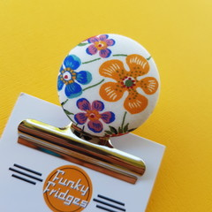 Liberty Floral V Magnetic Bulldog Clip