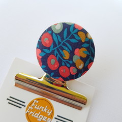 Liberty Floral IV Magnetic Bulldog Clip