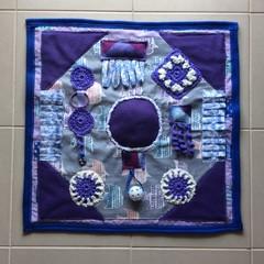 Mauve Dementia Alzheimers Fidget Quilt Lap Sensory Blanket Mat 60cm x 60cm