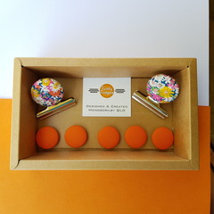 Liberty Floral with Orange Magnet Gift Box Set