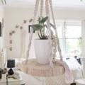Macrame Plant Hanger   Macramè Hanging Shelf