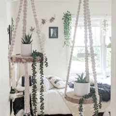 Macrame Plant Hanger | Macrame Hanging Shelf | Macrame Floating Shelf