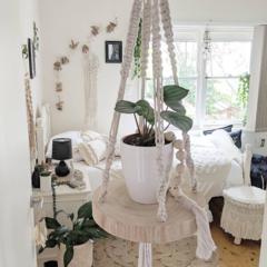 Macrame Plant Hanger | Macramè Hanging Shelf