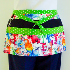 Preschool teacher utility vendor daycare lined apron - 6 pockets
