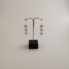 Recycled Silver drop earrings