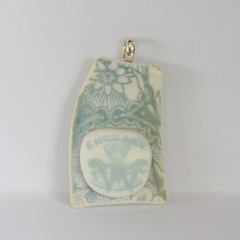 Dusty Turquoise Shelley/Wileman Pendant