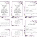 PURPLE FLOURISH WEDDING STATIONARY PACKAGE