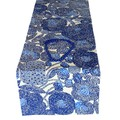 Blue Table Runner. Beach House Party Decor.