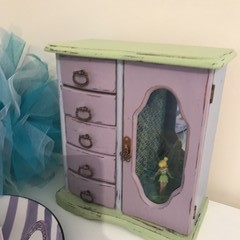 Jewellery Box - Jewelry Armoire - Vintage - Revamped