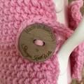 Handmade pink cozy or mug, tea cosy, coffee cozy, mug cozy, purple cozy