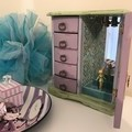 Jewellery Box - Jewelry Armoire - Vintage - Revamped