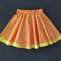 Orange Skirt - hand dyed