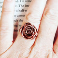 ROSE Wire Wrapped Ring - beautifully handmade - Free shipping!
