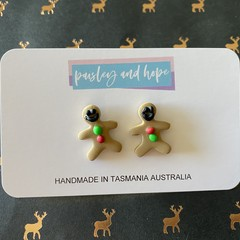Gingerbread Men Studs #1