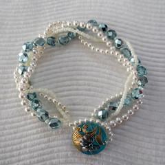 Vintage Look Swarovski Pearl Bracelet