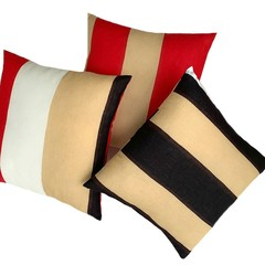 Striped Color Block Pillow Covers.
