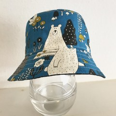 SECONDS- Small size summer hat in bear fabric