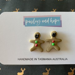 Gingerbread Men Studs #3