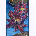 4 FLORAL ART CARDS Printed cards featuring 2 painting by Karen McSwan Silsby