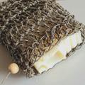 Hemp Crochet Drawstring Soap Saver Sack - Soap Pouch - Reusable