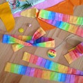 Headband in Watercolour Rainbow
