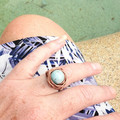 Wire Wrapped Ring with pretty gemstone - beautifully handmade - Free shipping!