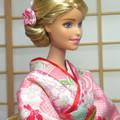 doll clothes 'SAKURA' Japan kimono set for Barbie and other 12' doll handmade