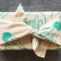 Handprinted reusable gift wrap | Christmas gift wrap, furoshiki, swan