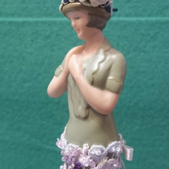 """ELLEN"" TASSEL DOLL ON METAL STAND - Handmade"