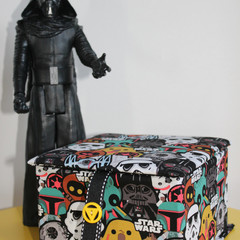 Star Wars ('Baddies') Keepsake Fabric Box - Children's trinket Box (4 fabric des