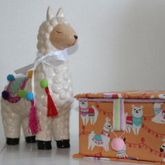 Llama Keepsake Fabric Box - Children's jewellery Box