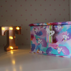 Unicorn Keepsake Fabric Box - Children's jewellery Box