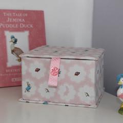 Baby Keepsake Fabric Box - Peter Rabbit (pink) - Children's Memory Box
