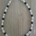 GIRL'S FRESHWATER PEARL AND GARNET NECKLACE