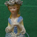 """MAY"" TASSEL DOLL ON METAL STAND - Handmade"