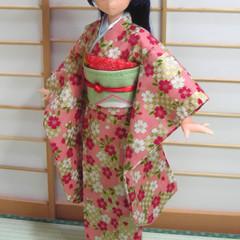Doll Clothes Japanese kimono for 25cm doll Azone Pureneemo body size M handmade