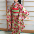 Doll Clothes Japanese kimono for 25cm doll Azone Pureneemo body size M handmade