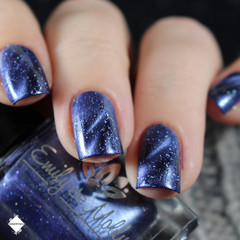 "Nail polish - ""Expert Opinion"" A dark blurple base with silver flakes"