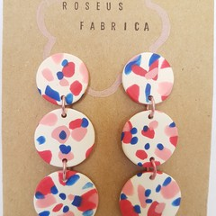Tri-dangles statement earrings